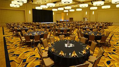 banquet area wide shot