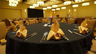 banquet area close up