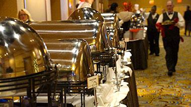 banquet buffet style hallway