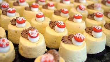 catering close up shot of dessert