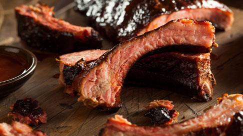 Savory barbecue ribs.
