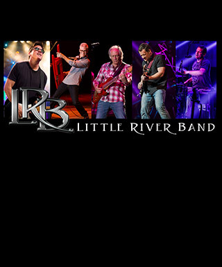 Combination photo showing current members of the Little River Band.