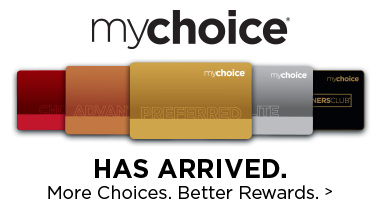 mychoice rewards card arrived logo
