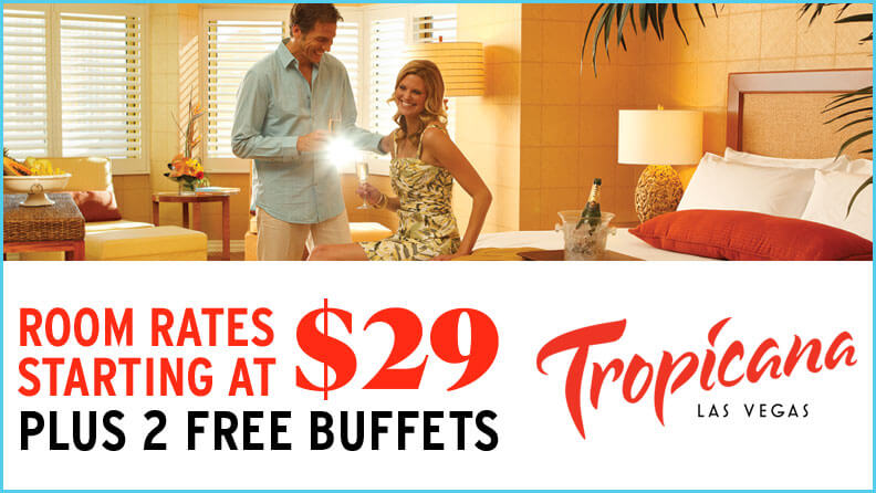 Tropicana hotel room sale logo