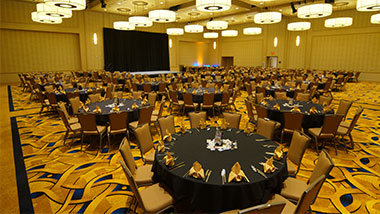 banquet area wide shot