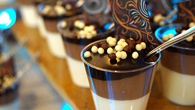catering close up shot of dessert